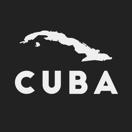 Cuba icon. Country map on dark background. Stylish Cuba map with country name. Vector illustration.