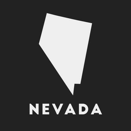 Nevada icon. Us state map on dark background. Stylish Nevada map with us state name. Vector illustration.