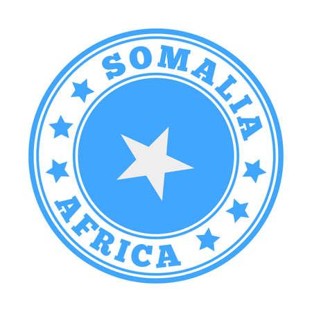 Somalia sign. Round country logo with flag of Somalia. Vector illustration.
