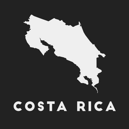 Costa Rica icon. Country map on dark background. Stylish Costa Rica map with country name. Vector illustration.