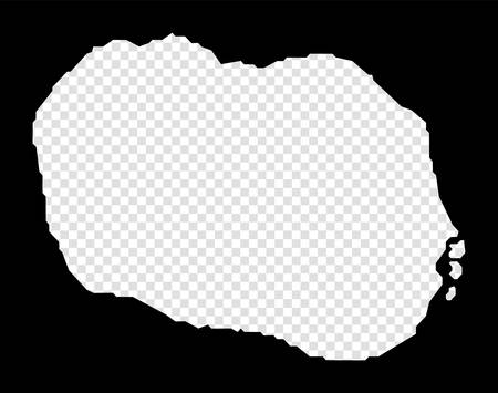Stencil map of Rarotonga. Simple and minimal transparent map of Rarotonga. Black rectangle with cut shape of the island. Amazing vector illustration.