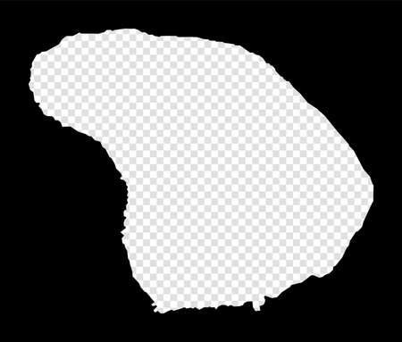 Stencil map of Lanai. Simple and minimal transparent map of Lanai. Black rectangle with cut shape of the island. Superb vector illustration.