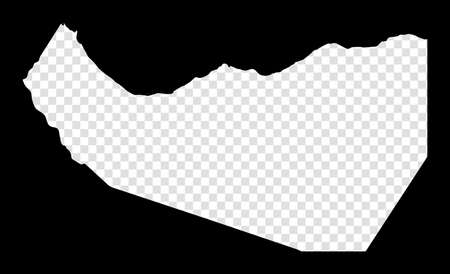 Stencil map of Somaliland. Simple and minimal transparent map of Somaliland. Black rectangle with cut shape of the country. Powerful vector illustration.