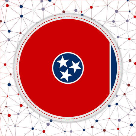 Flag of Tennessee with network background. Tennessee sign. Neat vector illustration.