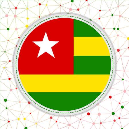 Flag of Togo with network background. Togo sign. Cool vector illustration. 일러스트