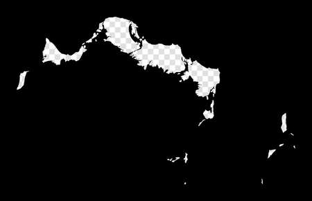 Stencil map of Turks and Caicos Islands. Simple and minimal transparent map of Turks and Caicos Islands. Black rectangle with cut shape of the island. Powerful vector illustration.