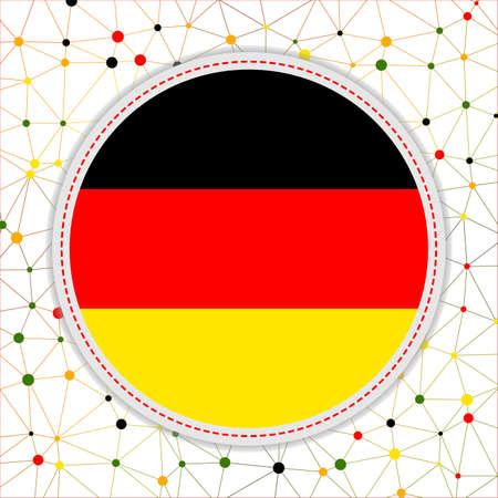 Flag of Germany with network background. Germany sign. Elegant vector illustration.