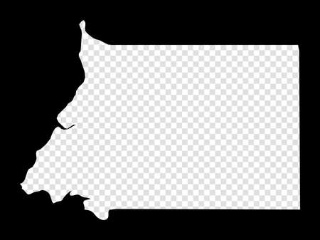 Stencil map of Equatorial Guinea. Simple and minimal transparent map of Equatorial Guinea. Black rectangle with cut shape of the country. Artistic vector illustration.