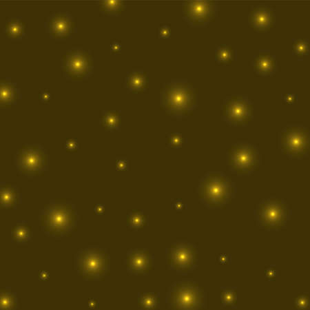 Starry background. Stars evenly scattered on yellow background. Appealing glowing space cover. Radiant vector illustration. Фото со стока - 147267312