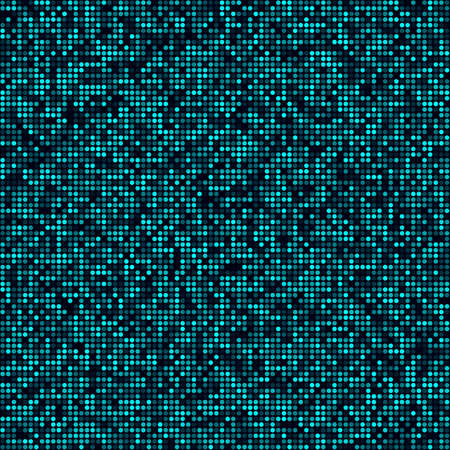 Technology pattern. Filled pattern of circles. Cyan colored seamless background. Neat vector illustration.