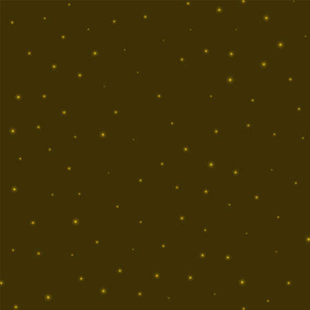 Starry background. Stars sparsely scattered on yellow background. Amazing glowing space cover. Trendy vector illustration. Иллюстрация