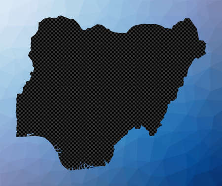 Nigeria geometric map. Stencil shape of Nigeria in low poly style. Charming country vector illustration.