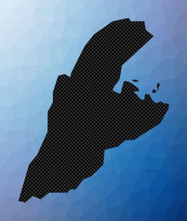 Kastellorizo geometric map. Stencil shape of Kastellorizo in low poly style. Astonishing island vector illustration.