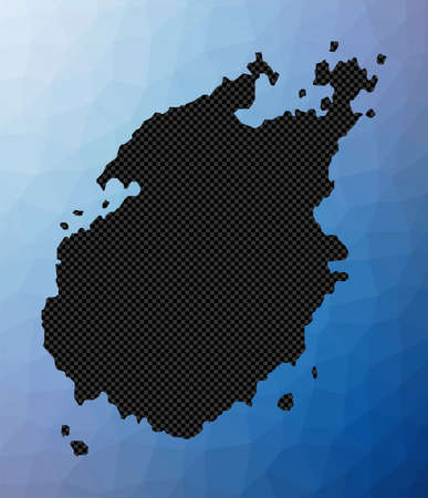 Paros geometric map. Stencil shape of Paros in low poly style. Elegant island vector illustration.