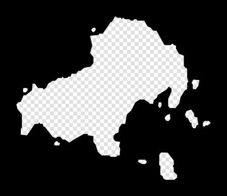 Stencil map of Skiathos. Simple and minimal transparent map of Skiathos. Black rectangle with cut shape of the island. Attractive vector illustration. Archivio Fotografico - 147502837