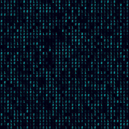 Abstract Matrix Pattern. Seamless pattern. Neat background. Creative vector illustration.