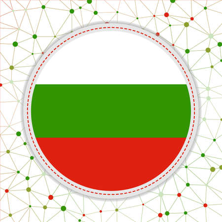 Flag of Bulgaria with network background. Bulgaria sign. Appealing vector illustration.