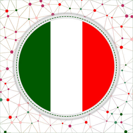 Flag of Italy with network background. Italy sign. Trendy vector illustration.