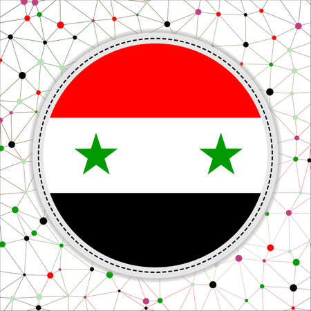 Flag of Syria with network background. Syria sign. Captivating vector illustration.