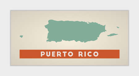 Puerto Rico poster. Map of the country with colorful regions. Shape of Puerto Rico with country name. Vibrant vector illustration.