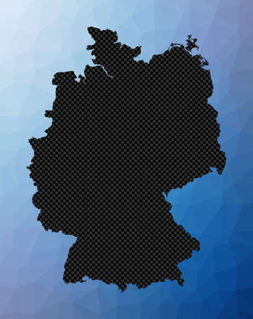 Germany geometric map. Stencil shape of Germany in low poly style. Artistic country vector illustration.
