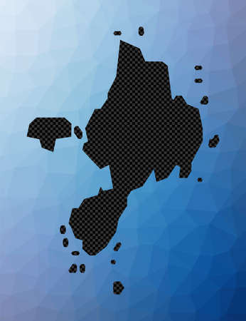 Sark geometric map. Stencil shape of Sark in low poly style. Vibrant island vector illustration.