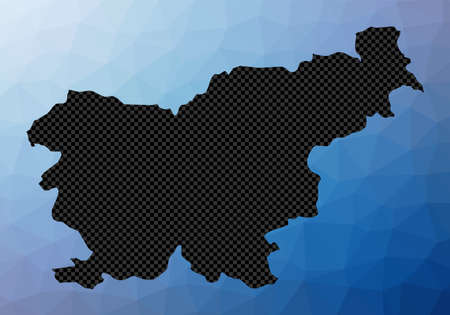 Slovenia geometric map. Stencil shape of Slovenia in low poly style. Amazing country vector illustration.