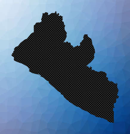 Liberia geometric map. Stencil shape of Liberia in low poly style. Captivating country vector illustration.