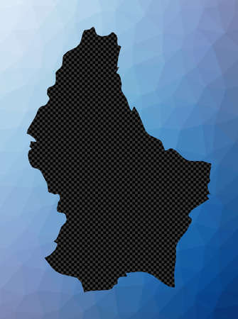 Luxembourg geometric map. Stencil shape of Luxembourg in low poly style. Elegant country vector illustration. Ilustração