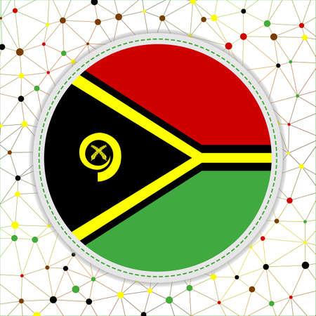 Flag of Vanuatu with network background. Vanuatu sign. Elegant vector illustration.