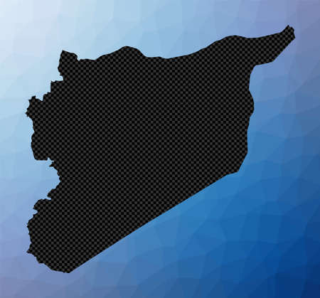 Syria geometric map. Stencil shape of Syria in low poly style. Astonishing country vector illustration.