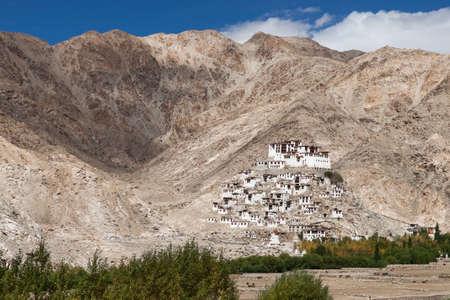 Chemrey monastery in Ladakh. Tibetan buddhist gompa in mountains, India. Zdjęcie Seryjne