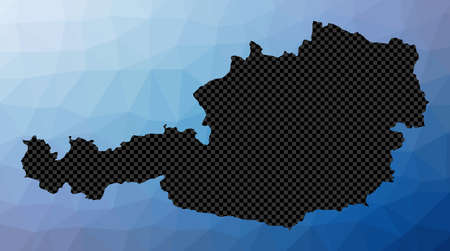 Austria geometric map. Stencil shape of Austria in low poly style. Neat country vector illustration. 免版税图像 - 150263452