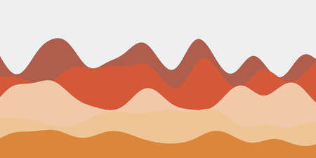 Abstract soft red hills background. Colorful waves cool vector illustration.