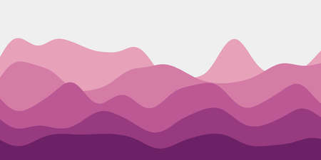 Abstract magenta hills background. Colorful waves neat vector illustration. 向量圖像