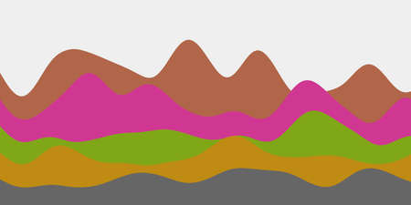 Abstract colorful hills background. Colorful waves radiant vector illustration.