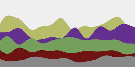 Abstract contrast hills background. Colorful waves astonishing vector illustration.