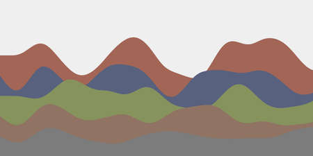 Abstract dark hills background. Colorful waves artistic vector illustration.