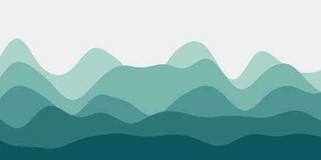 Abstract mint hills background. Colorful waves powerful vector illustration.