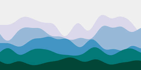 Abstract purple blue green hills background. Colorful waves beautiful vector illustration.