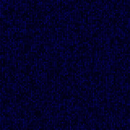 Technology Background. Blue filled binary background. Big sized seamless pattern. Astonishing vector illustration.