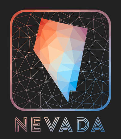 Nevada Map Design Vector Low Poly Map Of The Us State Nevada Royalty Free Cliparts Vectors And Stock Illustration Image 150728083