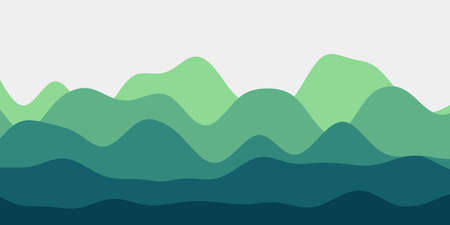 Abstract emerald hills background. Colorful waves creative vector illustration.