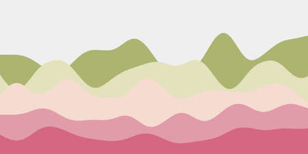 Abstract green pink hills background. Colorful waves astonishing vector illustration.