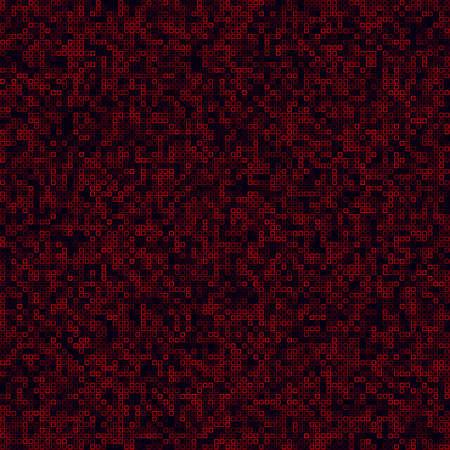 Digital vibrant background. Filled pattern of frames. Red colored seamless background. Cool vector illustration.