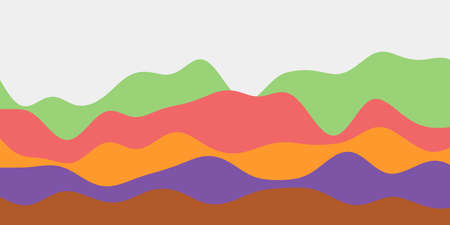 Abstract multicolored hills background. Colorful waves appealing vector illustration.