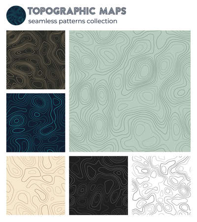Topographic maps. Attractive isoline patterns, seamless design. Powerful tileable background. Vector illustration.