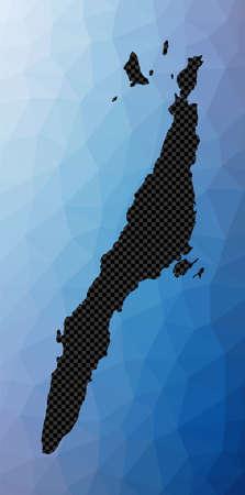 Cebu geometric map. Stencil shape of Cebu in low poly style. Attractive island vector illustration. Vector Illustration