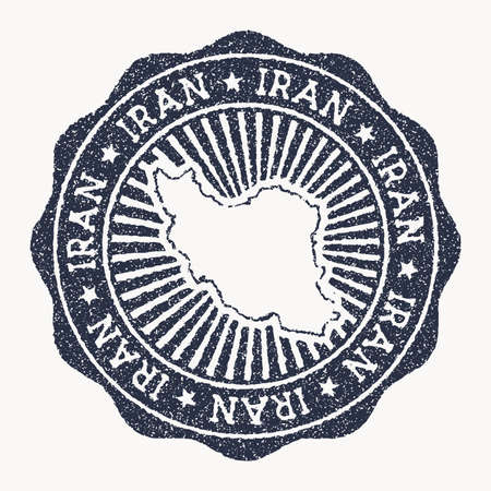 Iran stamp. Travel rubber stamp with the name and map of country, vector illustration. Can be used as insignia, logotype, label, sticker or badge of the Iran. 版權商用圖片 - 157398392