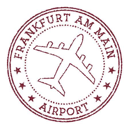 Frankfurt am Main Airport stamp. Airport of Frankfurt-am-Main round . Vector illustration.